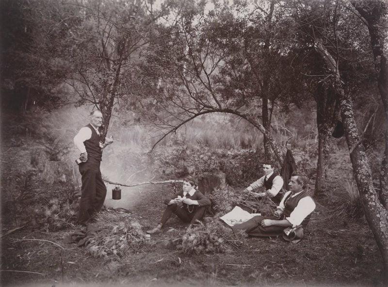 Collecting Wattle, Archibald James Campbell, Dandenong Ranges, Victoria, circa 1900 Photographer: A.J. Campbell Source: Museum Victoria